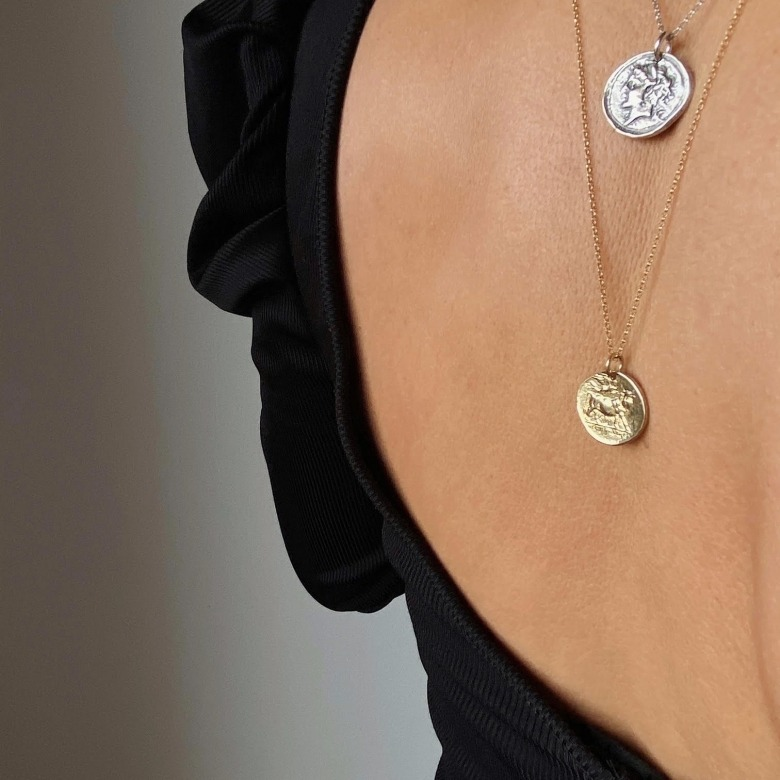 HLC - irregular coin necklace 2