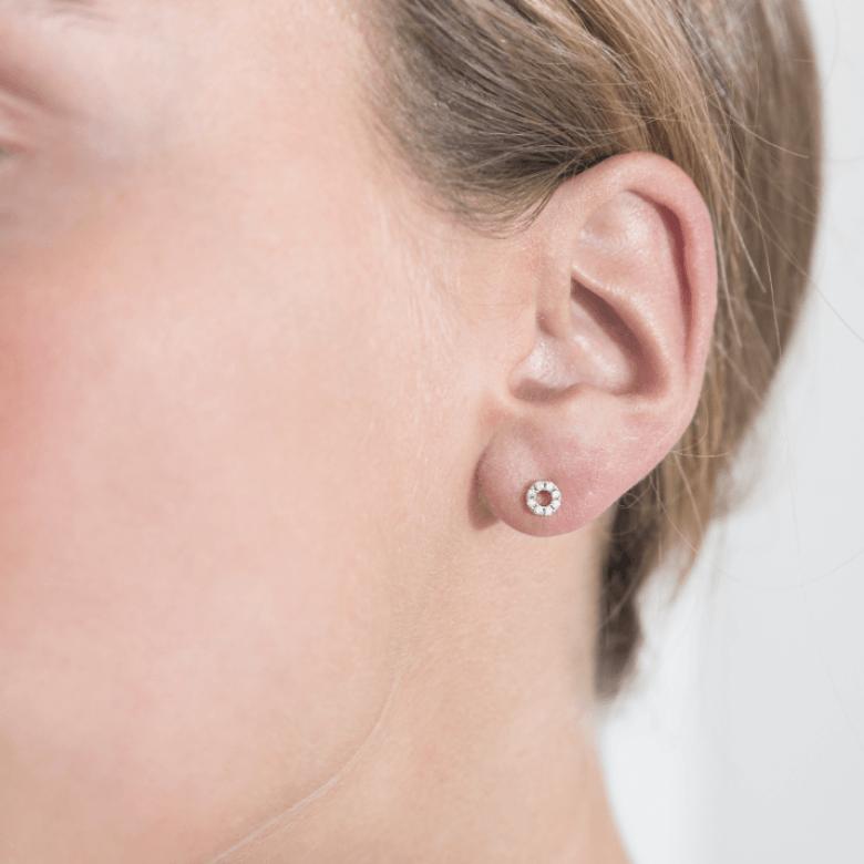 HLC - Diamond Circle Earrings 2