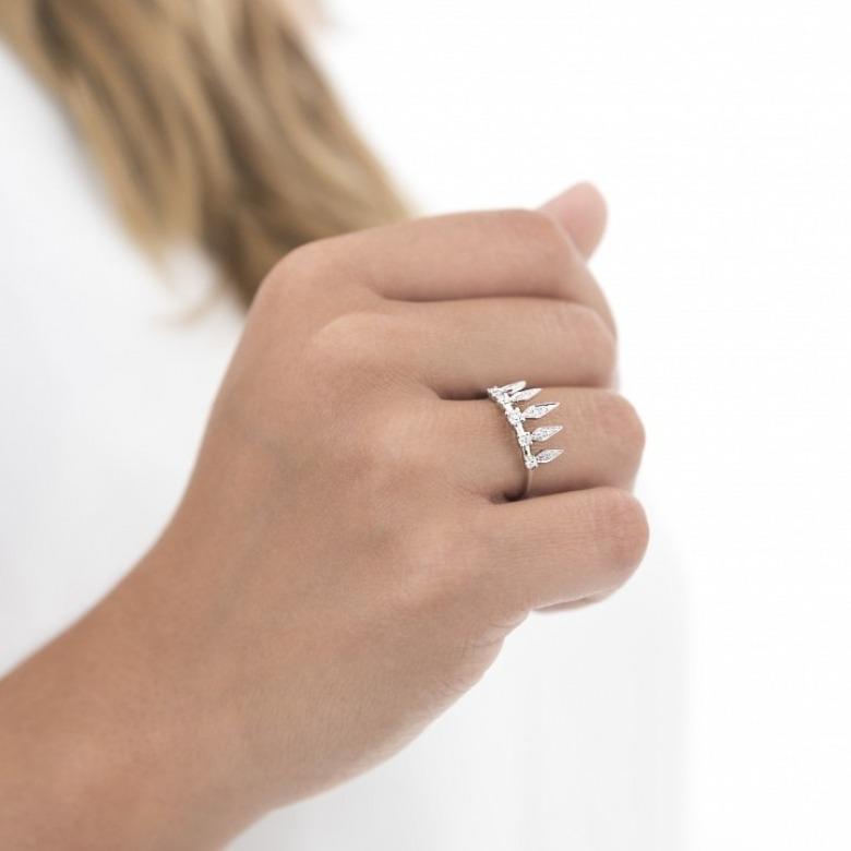 HLC - Diamond Indian Crown Ring 2