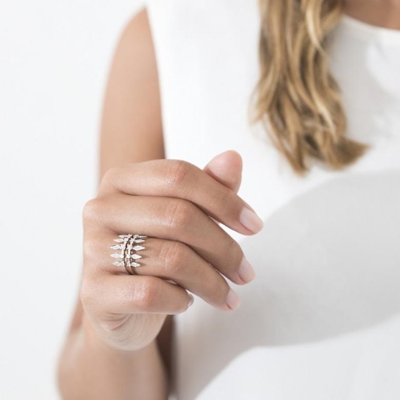 HLC - Diamond Indian Crown Ring 3